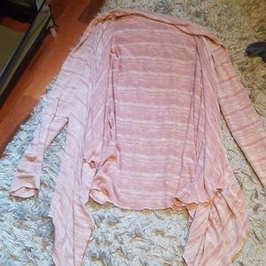 Cardigan pink stripped